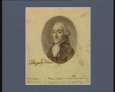 Etienne Chevalier cultivateur a argenteuil et député de la prevoté de <em>paris</em>, né le 25 X.bre 1750 : [dessin]