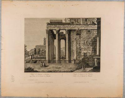 Tempio di Antonino e Faustina, fiancata verso levante