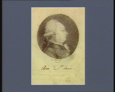 Charles Léon m.is de Bouthillier m.al des camps et armées du Roy, seigneur des Aix d'Angillon, né à <em>Paris</em> le 21 juin 1743, député de la noblesse de Berry : [dessin]
