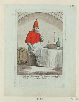 Le  Pape mangeant du fromage de rocquefort decret du [...] mai 1791 : [estampe]