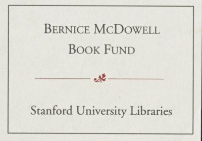 Bernice McDowell Book Fund
