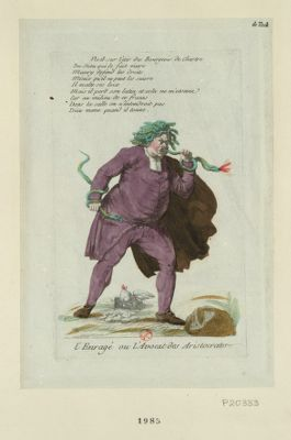L' Enragé ou l'avocat des aristocrates [estampe]