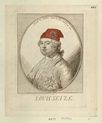 Louis seize bonnet des Jacobins donné au Roi, le 6th [i. e. 20] juin 1792 : [estampe]