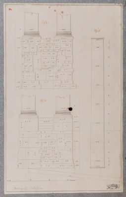Tempio di Vespasiano, particolari architettonici