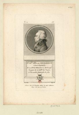 L.uis M.rie m.is de Mesgrigny colonel d'infanterie né au ch.au de Villebertin le 21 avril 1745 depute de la nob.sse de Troyes à l'Assemblée nationale de 1789 : [estampe]