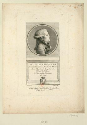 M. de Kytspotter lieu.t gén.al criminel au presidial de Flandres. Né à Hazebrouck le 19 juin 1751. Député de Bailleul à l'Assemblée nationale de 1789 : [estampe]