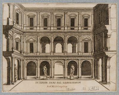 Palazzo Farnese, cortile