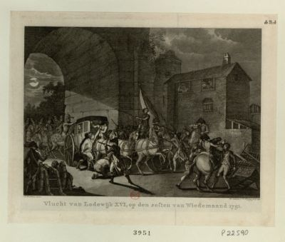 Vlucht van Lodewijk XVI [estampe]