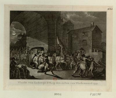 Vlucht van Lodewijk <em>XVI</em> [estampe]