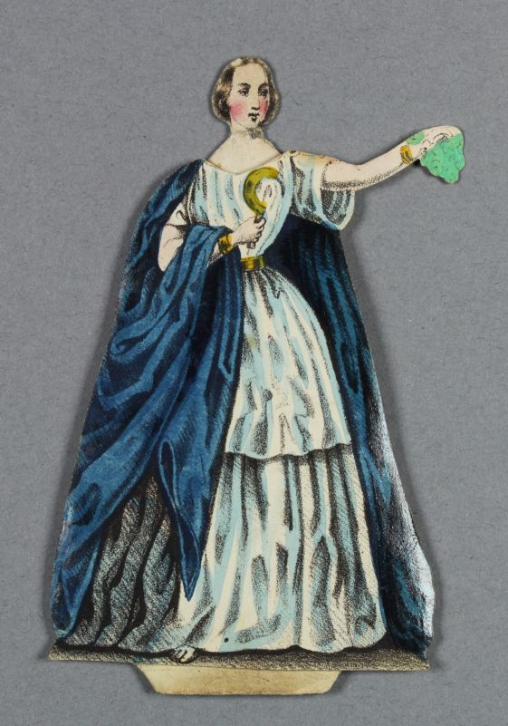"Jenny Lind paper doll dostume, Norma from the opera ""Norma"""