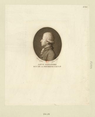 Louis Alexandre duc de La Rochefoucauld député de la ville de Paris à l'Assemblée nationale en 1789 : [estampe]