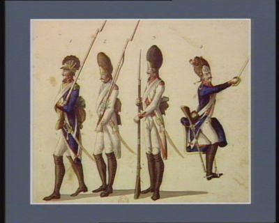 [Description de quelques corps composant les armées françaises par un témoin occulaire] [estampe]