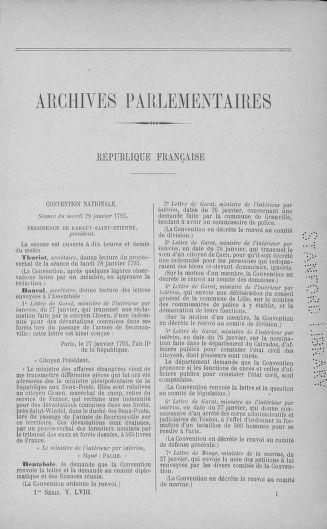 Tome 58 : Du 29 janvier au 18 février 1793 - page ..