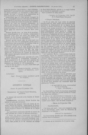 Tome 58 : Du 29 janvier au 18 février 1793 - page 87