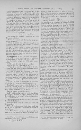 Tome 58 : Du 29 janvier au 18 février 1793 - page 97