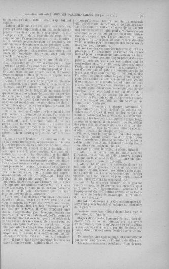Tome 58 : Du 29 janvier au 18 février 1793 - page 99