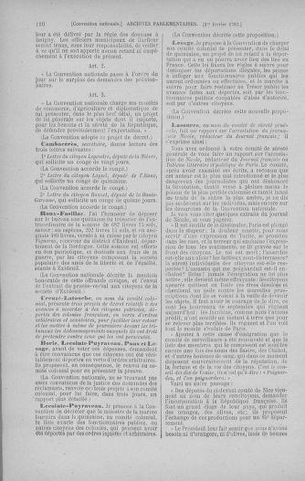 Tome 58 : Du 29 janvier au 18 février 1793 - page 110