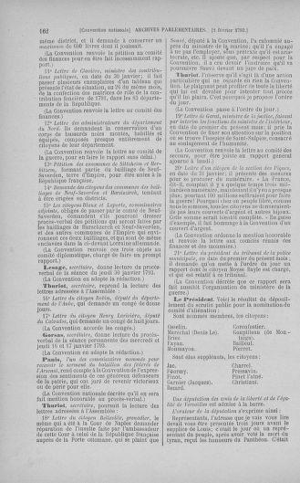 Tome 58 : Du 29 janvier au 18 février 1793 - page 162