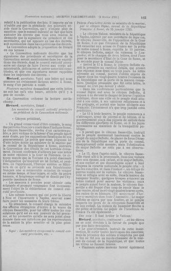 Tome 58 : Du 29 janvier au 18 février 1793 - page 165