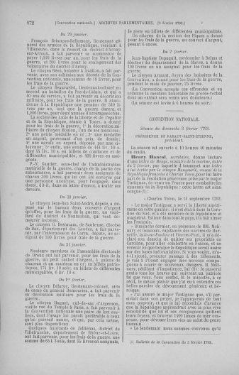 Tome 58 : Du 29 janvier au 18 février 1793 - page 172