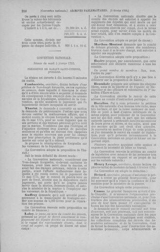 Tome 58 : Du 29 janvier au 18 février 1793 - page 216