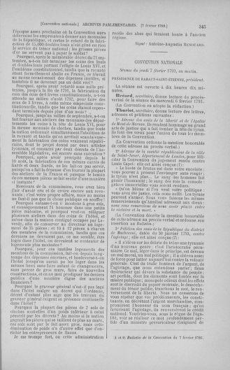Tome 58 : Du 29 janvier au 18 février 1793 - page 345