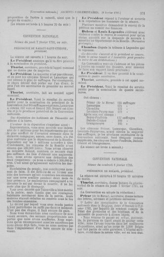 Tome 58 : Du 29 janvier au 18 février 1793 - page 371