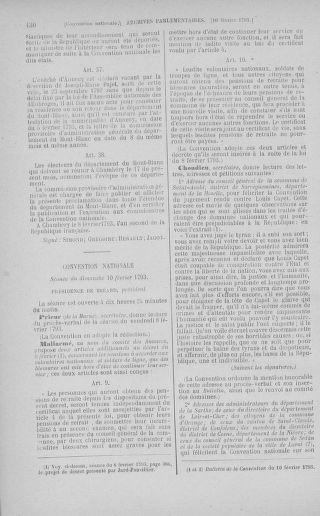 Tome 58 : Du 29 janvier au 18 février 1793 - page 430