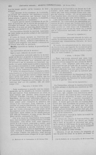Tome 58 : Du 29 janvier au 18 février 1793 - page 432