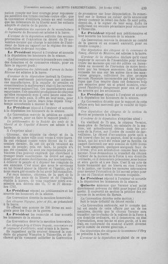Tome 58 : Du 29 janvier au 18 février 1793 - page 439