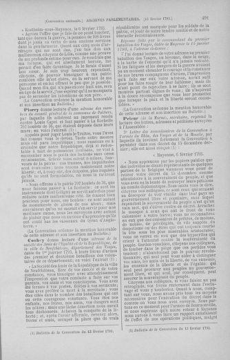 Tome 58 : Du 29 janvier au 18 février 1793 - page 491