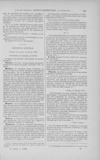 Tome 58 : Du 29 janvier au 18 février 1793 - page 609