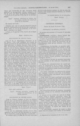 Tome 58 : Du 29 janvier au 18 février 1793 - page 697