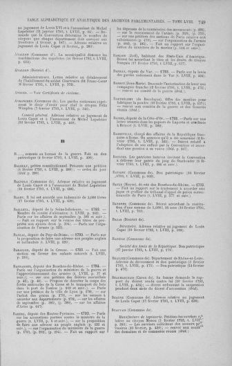 Tome 58 : Du 29 janvier au 18 février 1793 - page 749