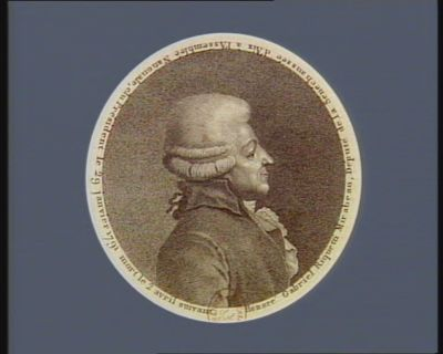Honoré Gabriel Riquetti Mirabeau député de la sénéchaussée d'Aix <em>à</em> l'Assemblée nationale, élu président le 29 janvier 1791 mort le 2 avril suivant : [estampe]