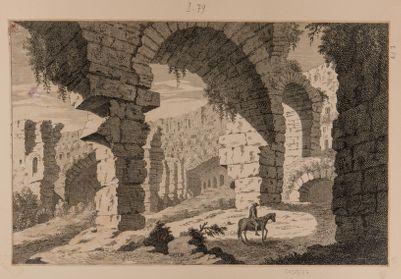 Colosseo, interno. Veduta di ambulacro