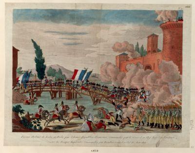 Passage du Pont de Lody en Italie par l'Armée Républico-Française Commandée par le Général en Chef Napoléon Bonaparte [estampe]
