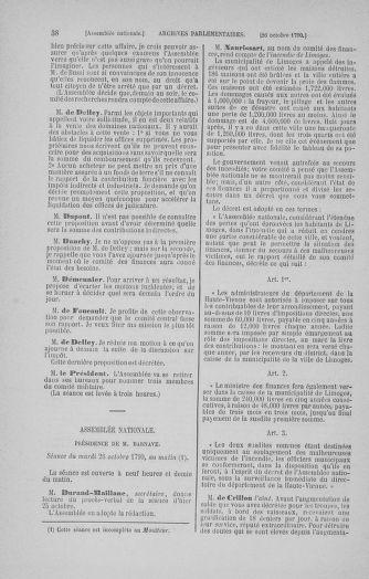 Tome 20 : Du 23 octobre au 26 novembre 1790 - page 38