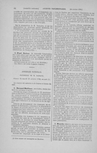 Tome 20 : Du 23 octobre au 26 novembre 1790 - page 44