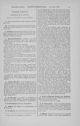 Tome 20 : Du 23 octobre au 26 novembre 1790 - page 47