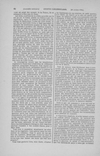 Tome 20 : Du 23 octobre au 26 novembre 1790 - page 68