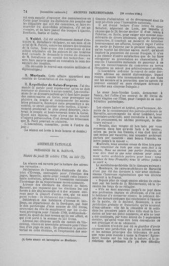 Tome 20 : Du 23 octobre au 26 novembre 1790 - page 74