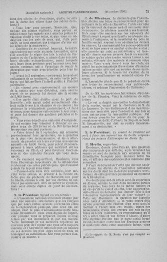 Tome 20 : Du 23 octobre au 26 novembre 1790 - page 75