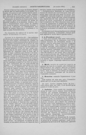 Tome 20 : Du 23 octobre au 26 novembre 1790 - page 141