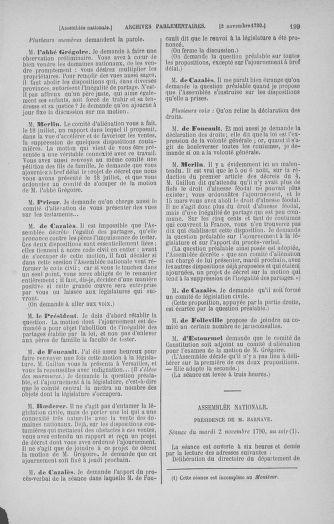 Tome 20 : Du 23 octobre au 26 novembre 1790 - page 199