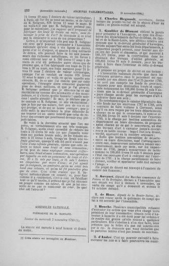 Tome 20 : Du 23 octobre au 26 novembre 1790 - page 252