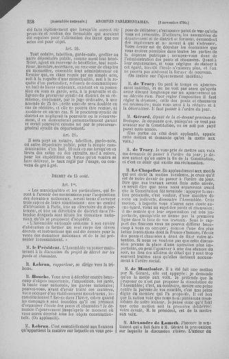 Tome 20 : Du 23 octobre au 26 novembre 1790 - page 258