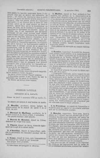 Tome 20 : Du 23 octobre au 26 novembre 1790 - page 259