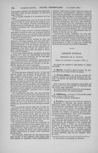 Tome 20 : Du 23 octobre au 26 novembre 1790 - page 274