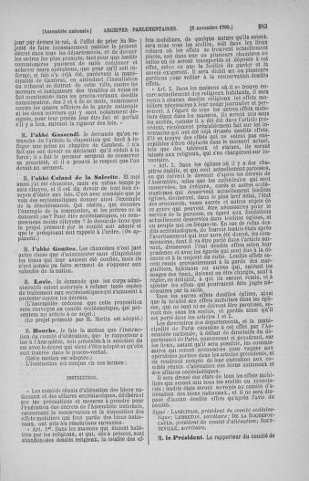 Tome 20 : Du 23 octobre au 26 novembre 1790 - page 283